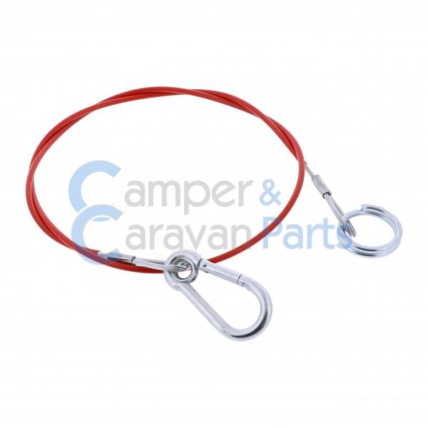 Breekkabel Ring / Musketon  1000 MM -