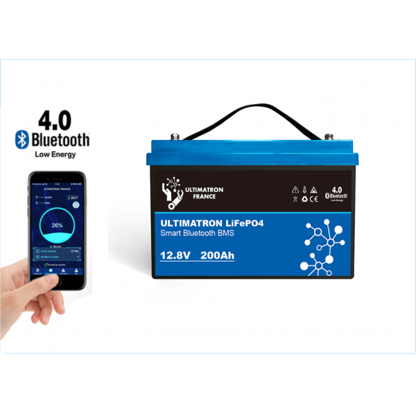 Ultimatron LiFePO4 12,8V 200Ah met Smart BMS 2560Wh (2611Wh) -
