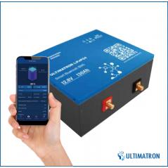 Ultimatron LiFePO4 12,8V 130Ah Met Smart BMS ( voor onder de stoel van de kampeerauto ) -